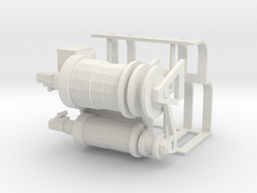 1/50 Oilfield bed type heavy winch in White Natural Versatile Plastic
