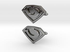 General Zod cufflinks in Polished Silver