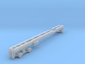 1/87th Long Oilfield  Bed truck frame in Smooth Fine Detail Plastic