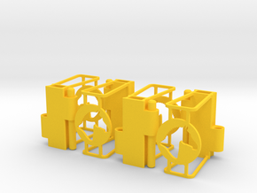 Ruff Style 2 Quad in Yellow Processed Versatile Plastic