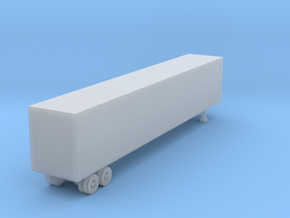 53 Foot Box Trailer - Z scale  in Smooth Fine Detail Plastic