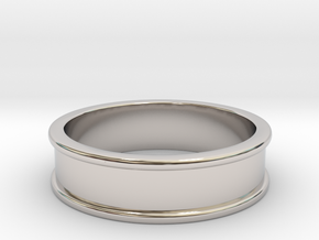 Customizable Ring in Rhodium Plated Brass
