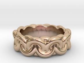 Chain Of Love 23 - Italian Size 23 in 14k Rose Gold