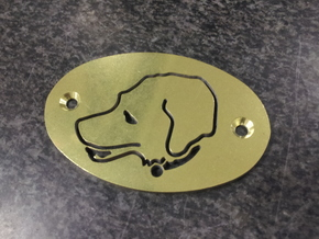 """Molly"" Labrador Plate in Natural Sandstone"