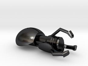 Portal Gun in Polished and Bronzed Black Steel