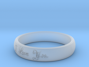 Ring Love You in Smooth Fine Detail Plastic