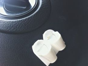 Earplug holder for vehicles in White Strong & Flexible