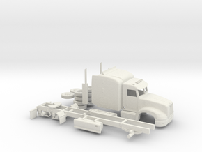 1/64 Peterbilt 386 With Skirts in White Natural Versatile Plastic