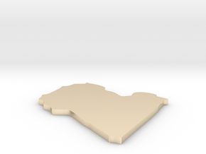 Libya - [Plain3D:L] in 14K Yellow Gold