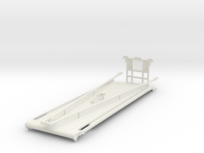 1/50th Heavy Oilfield Gin Pole Truck Bed in White Natural Versatile Plastic