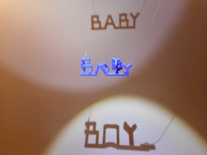 Baby Boy in Blue Processed Versatile Plastic