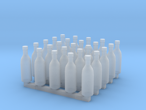Bottles of Vodka/Vine x25 in Smoothest Fine Detail Plastic