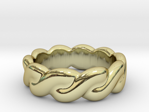 Love Affair 29 - Italian Size 29 in 18k Gold Plated Brass