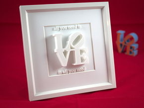 Love Is All You Need_II in White Natural Versatile Plastic