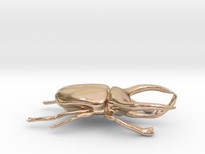 Atlas Beetle figurine/brooch in 14k Rose Gold Plated Brass