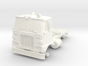 1/87 Super Pumper/Tender Cab in White Strong & Flexible Polished