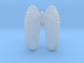 Small Angelwings Shell Pendant in Smooth Fine Detail Plastic