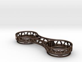 Tealight Holder in Polished Bronze Steel