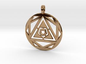 SPACE VORTEX in Polished Brass