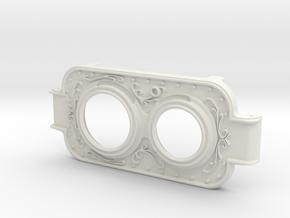 MPDA Lens Faceplate - Screen Accurate Size in White Natural Versatile Plastic