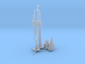 Michael's Mini Trumpet (Complete Set) in Smooth Fine Detail Plastic