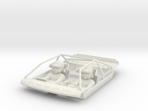 S04-SA1 Cockpit for Scalextric Audi Sport Quattro in White Natural Versatile Plastic