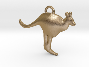 Kangaroo in Polished Gold Steel