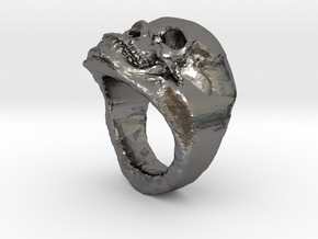 The real Skull Ring (size 9) in Polished Nickel Steel