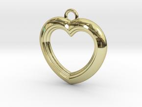 Cascading Heart Pendant in 18k Gold