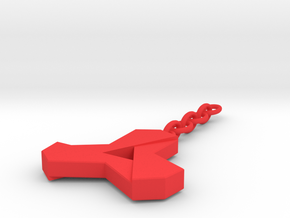 bussiness keychain Tom Van Paemel in Red Processed Versatile Plastic