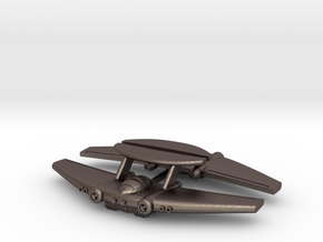 Chipmunk Space Fighter in Polished Bronzed Silver Steel