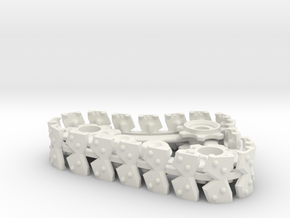 Ork Steam Style Track Set in White Natural Versatile Plastic