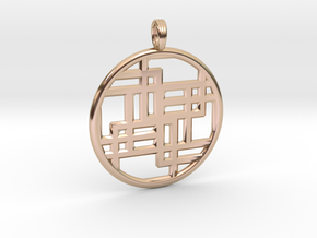 SIXTH DIMENSION CUBED in 14k Rose Gold Plated Brass