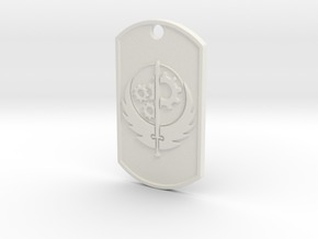 Brotherhood of Steel Dog Tag in White Natural Versatile Plastic