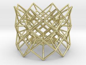 "Tea light Holder ""Structure"" in 18k Gold"