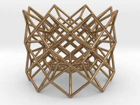 "Tea light Holder ""Structure"" in Natural Brass"
