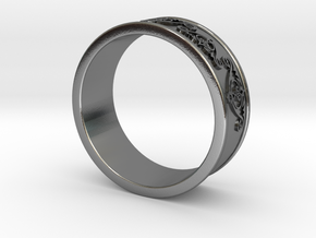 Decorative Ring 2 in Polished Silver