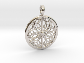 PEACE SPIRALS in Rhodium Plated