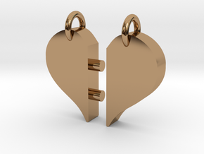 Heart Pendants-redesign in Polished Brass