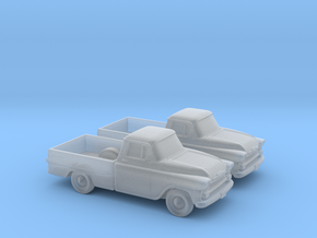 1/120 2X 1958 Chevrolet Apache in Smooth Fine Detail Plastic