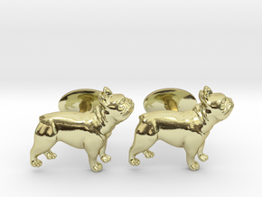 French Bulldog Cufflinks. in 18k Gold