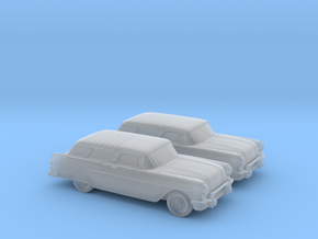 1/120 2X 1957 Pontiac Safari in Smooth Fine Detail Plastic