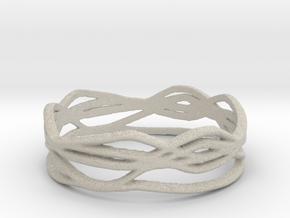 Ring Design 01 Ring Size 8 in Natural Sandstone