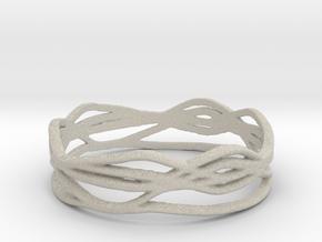 Ring Design 01 Ring Size 9.5 in Natural Sandstone
