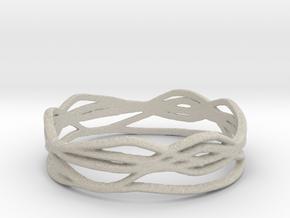 Ring Design 01 Ring Size 10 in Natural Sandstone