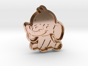 Cookie Cutter - Animal - Elephant in 14k Rose Gold Plated Brass