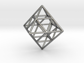 octahedron in Polished Silver