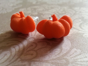 Fairytale Pumpkin Stud Earrings in Orange Processed Versatile Plastic
