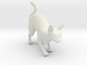 Stalking Blue Sphynx in White Natural Versatile Plastic