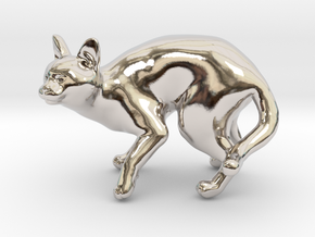 Fearing Gray Chartreux in Rhodium Plated Brass
